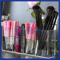 Beautiful acrylic desktop wholesale clear acrylic makeup brush holder for lipstick pencil/makeup brush