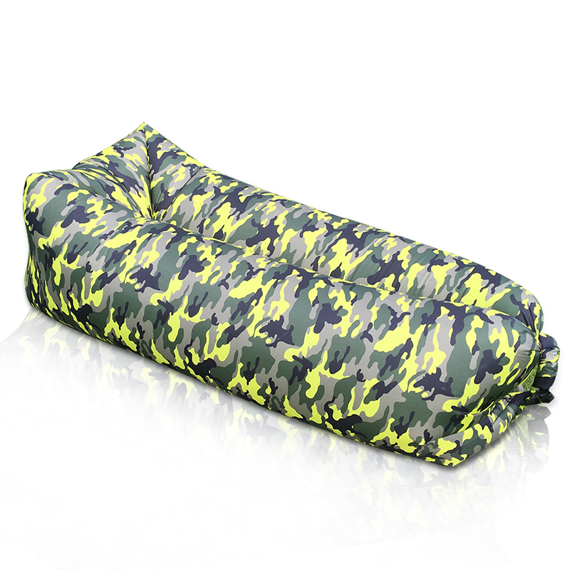 Outdoor Portable Air Inflatable sofa Sleeping Bag Banana Lounge Air Bed for Grass Camping Beach