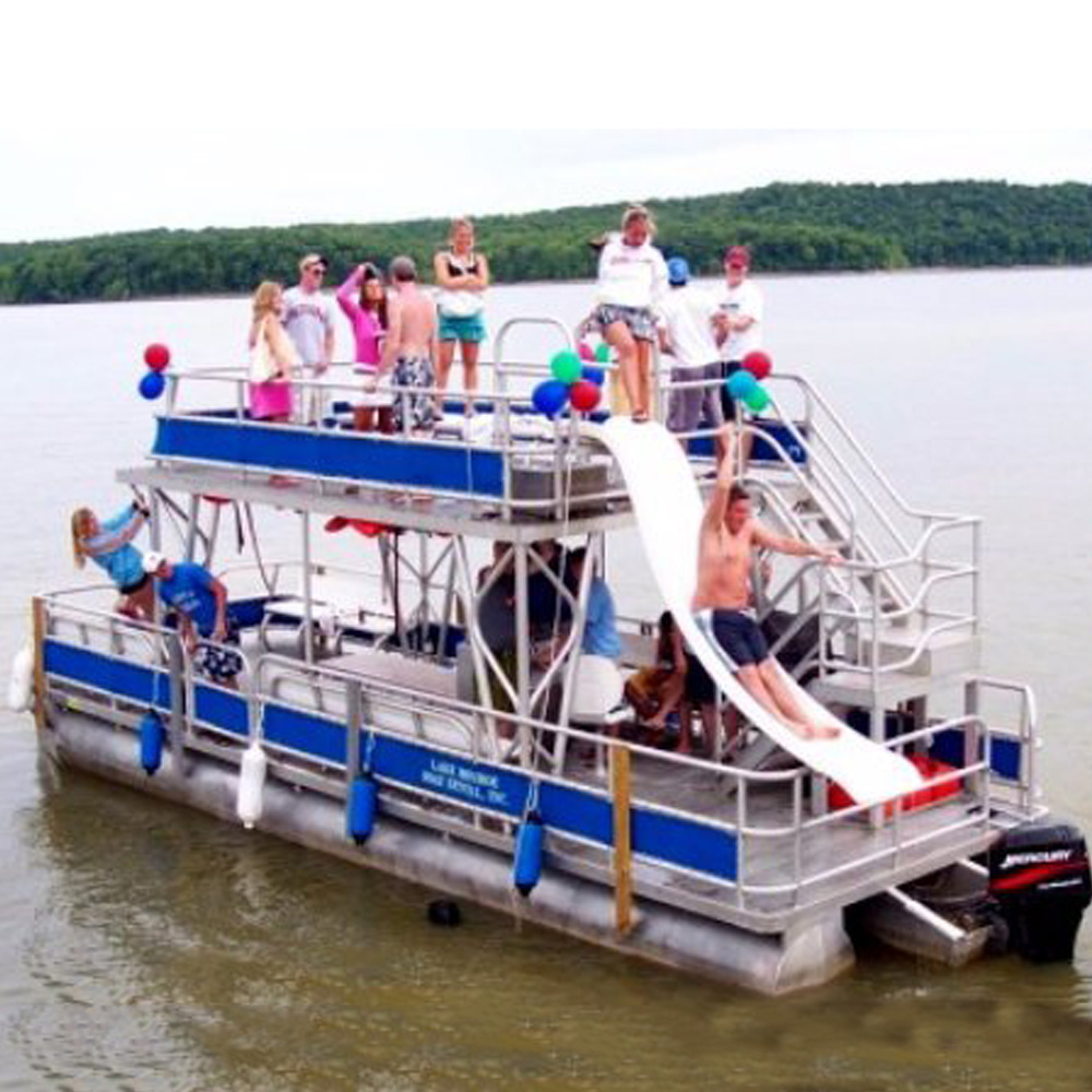 RTS KINLIFE Double decker pontoon <strong>boat</strong> with hard top for party and family entertainment