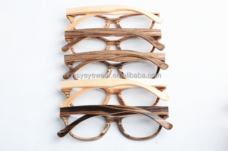 ebony wood frame reading glasses wood prescription glasses frame pt009 4 - Wood Frame Glasses