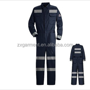 China garment manufacture OEM Overall Workwear Coverall flame retardant coveralls