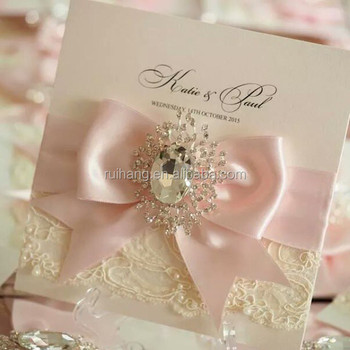 Ivory Vintage Style Lace Wedding Invitation With Box