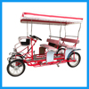 18'' wheel 2 and 4 person quadricycle bike for sale