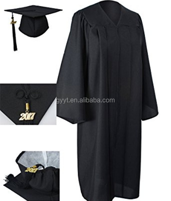 Black Custom Graduation Gown Bachelor Gown