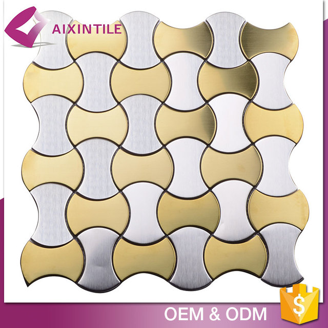 2017 Brushed Tile Stainless Steel Material Metal Mosaic
