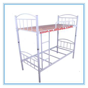 High Quality Wrought Iron Bunk Bed Metal Pipe Bed Frame New Design