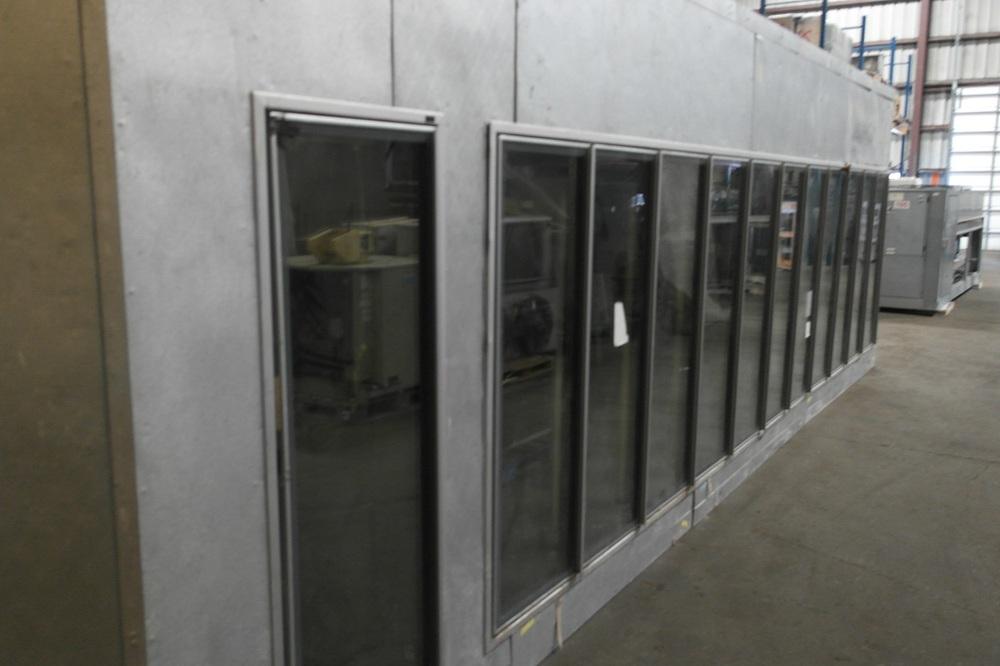 Cold Storage Anti Fog Glass Door Walk In Display Cooler