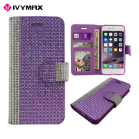 IVYMAX factory released phone shockproof PU leather wallet case for apple iPhone7