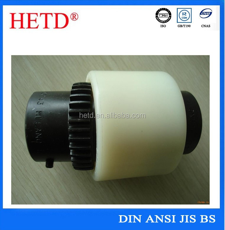 HETD good quality Coating Black Oxide Flexible Gear Motor Coupling nylon sleeve gear coupling