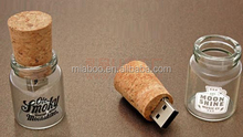 new products 2015 usb flash drive bottle with Cork, fast delivery bottle usb flash with Cork, bulk items bottle usb disk