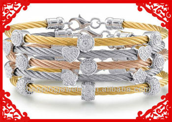 Various Flowers Rope Bracelets Whole Custom Friendship Stainless Steel Vner