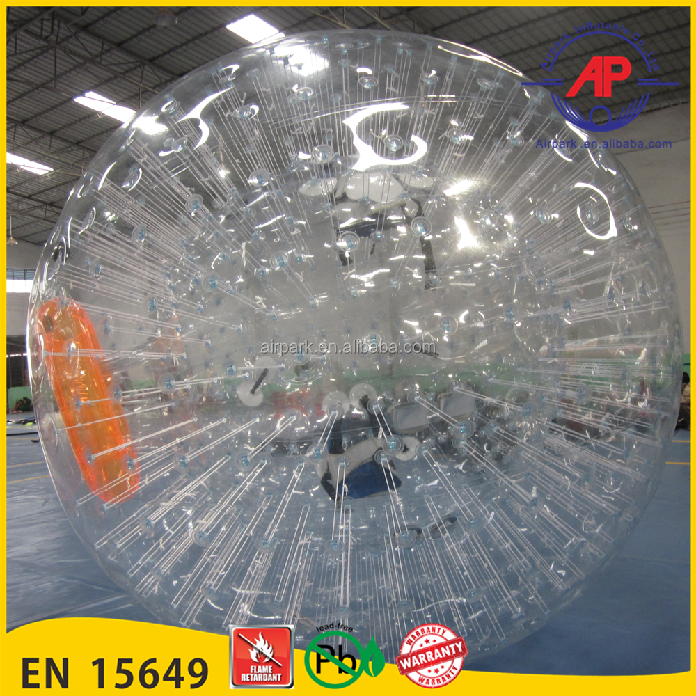 Airpark Giant Clear 1.0mmTPU/PVC Inflatable Body Zorb Ball,Sport Ball ,Inflatable Outdoor Body Zorb Ball for Sale