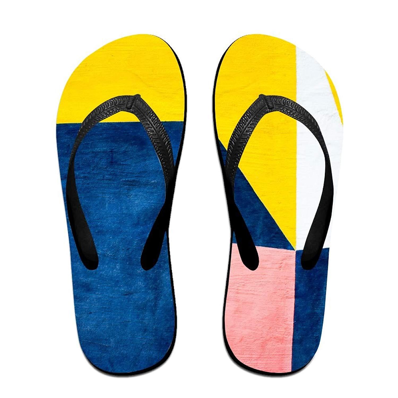 556d0c4ac34 Get Quotations · Blue Yellow White Fun Flip Flops Thong Sandals