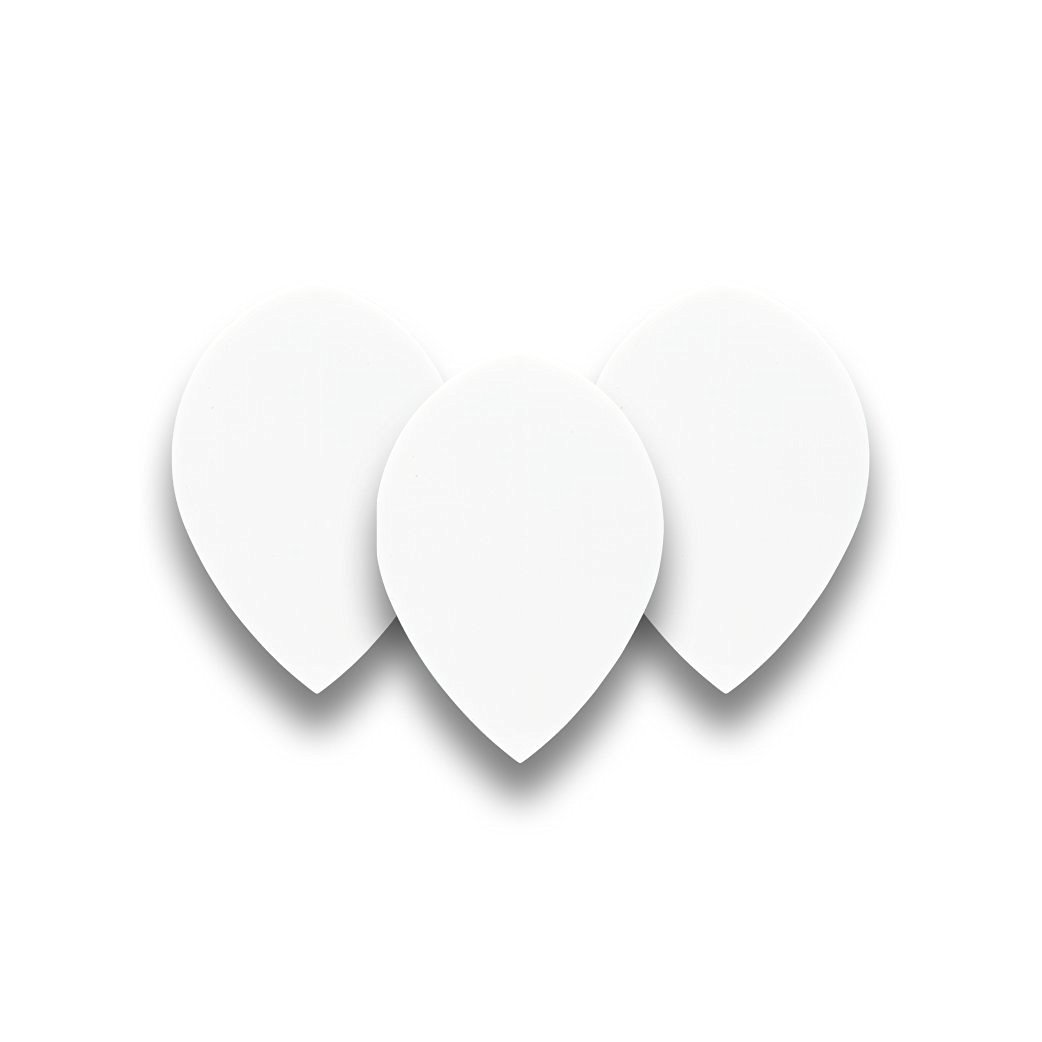 White Pear Dart Flights - 5 sets per pack (15 flights in total) & Red Dragon Checkout Card