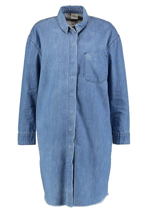 9ca008201d7 womens oversized denim long sleeve button down shirt dress in plus size