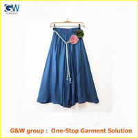 latest bohemian women beach long skirt design
