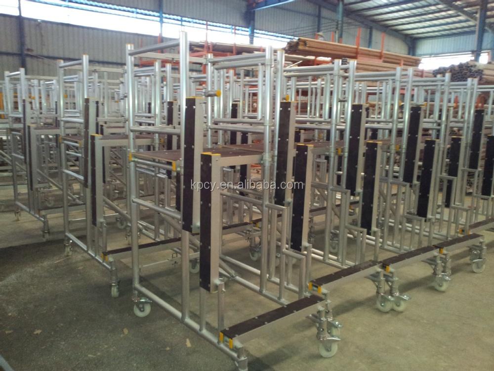 Indoor Scaffolding Platform : Aluminium movable indoor mobile scaffold platform buy