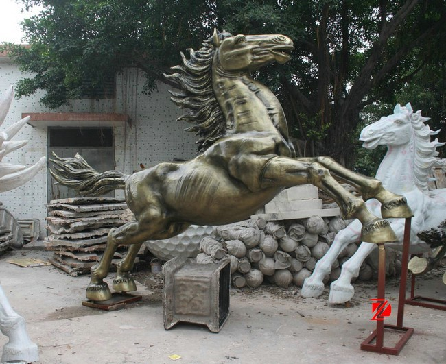Life size resin horse sculptures
