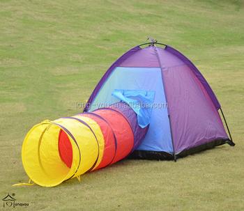 Aioiai Kids Tent And Sleeping Bag Set Bunk Bed Crawl Tunnel Combo