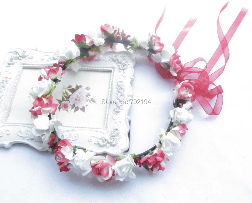Buy Bohemia Paper Garland Wedding Flower Girl Floral Crowns 100
