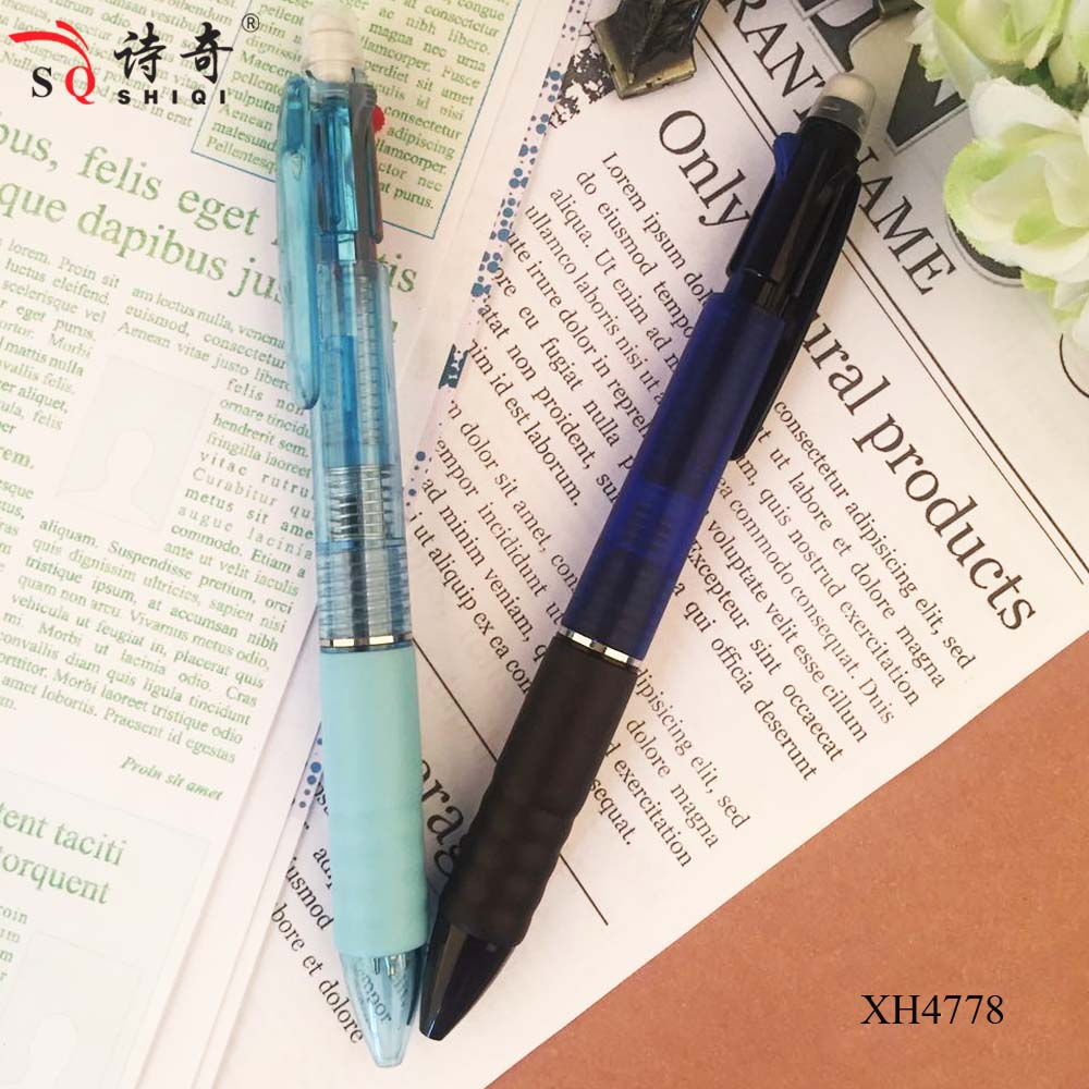 promotional custom logo plastic china cheap ball pen 2 colo ball pen have automatic pencil,pen factoty