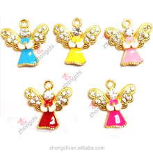 Imitation gold jewelry angel charms, Gold angel charms pendant jewelry wholesale factory price