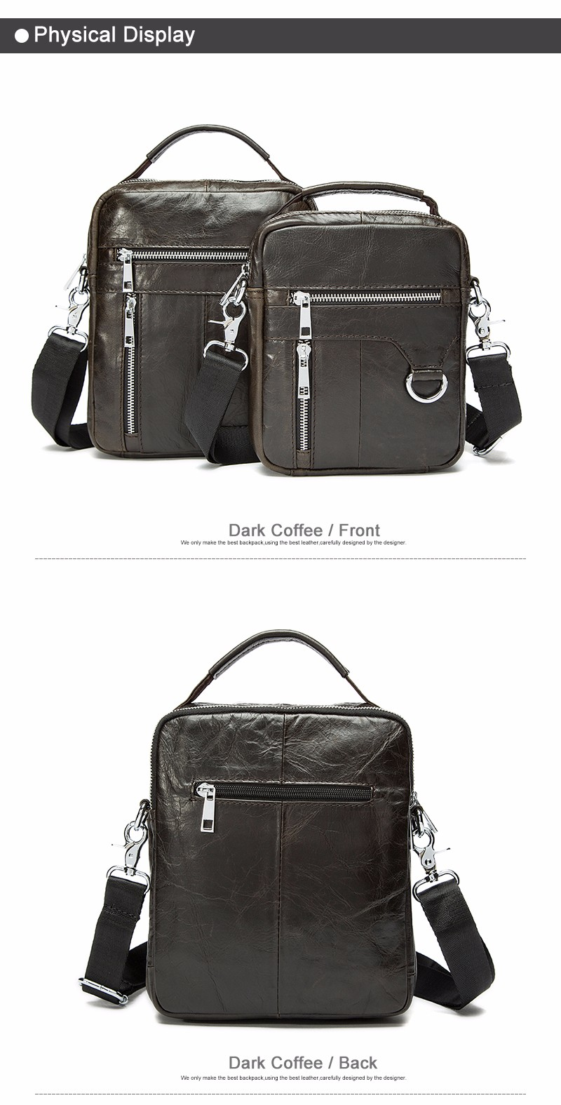 5f02d3b8e5 MVA Genuine Leather Crossbody Bags Small Men Shoulder Bag Men ...