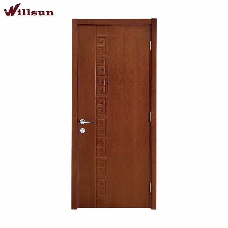 Chinese classic style used solid wood flush interior door for Solid wood flush door