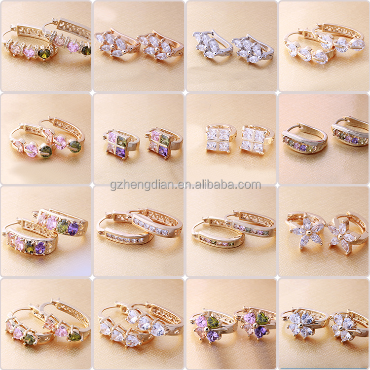 aaa zircon woman store accessories earrings d fashion stud jewelry dress product ear letter gold plated women rhinestone