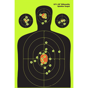 Airsoft Pistol Practice Silhouette Shooting Aim Target for BB Pellet