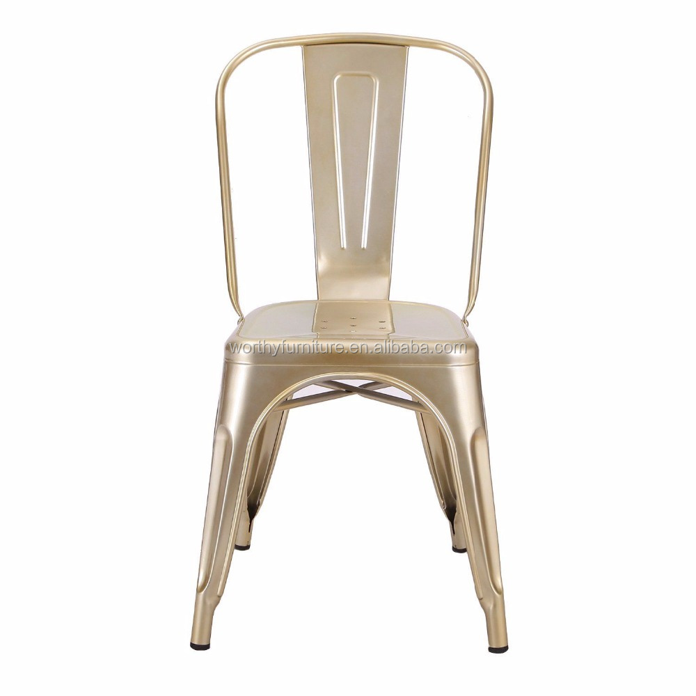 Modern restaurant furniture vintage industrial metal cafe chair