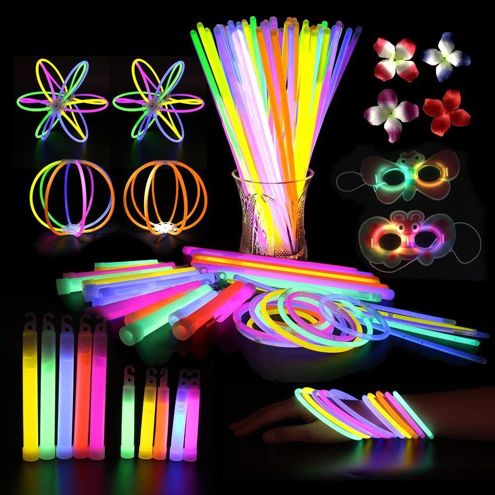 Get Quotations 800 Pcs Glow Sticks Bulk Party Pack Bracelets And Necklaces Light