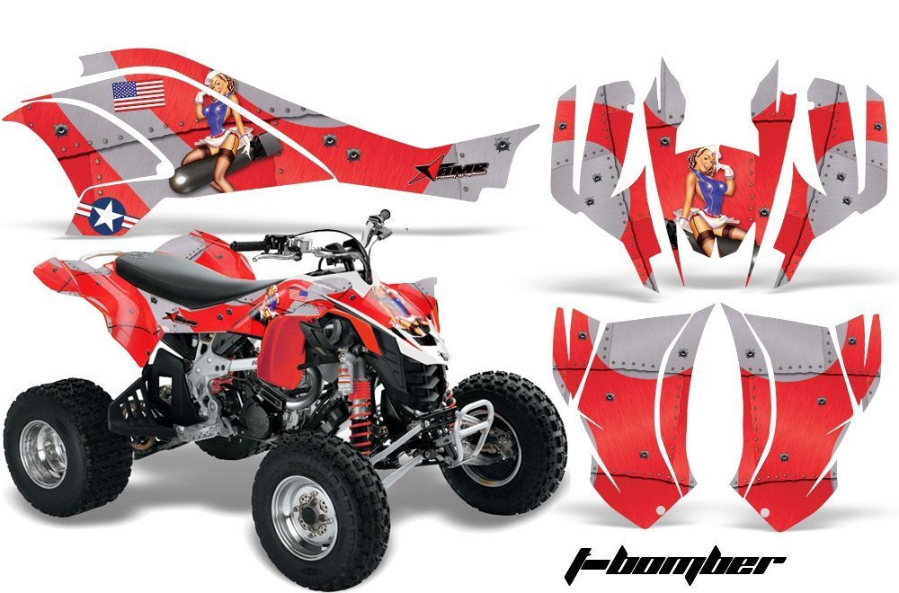 AMR Racing Graphics Can-Am DS-450 2008-2016 ATV Vinyl Wrap Kit - T-Bomber Red