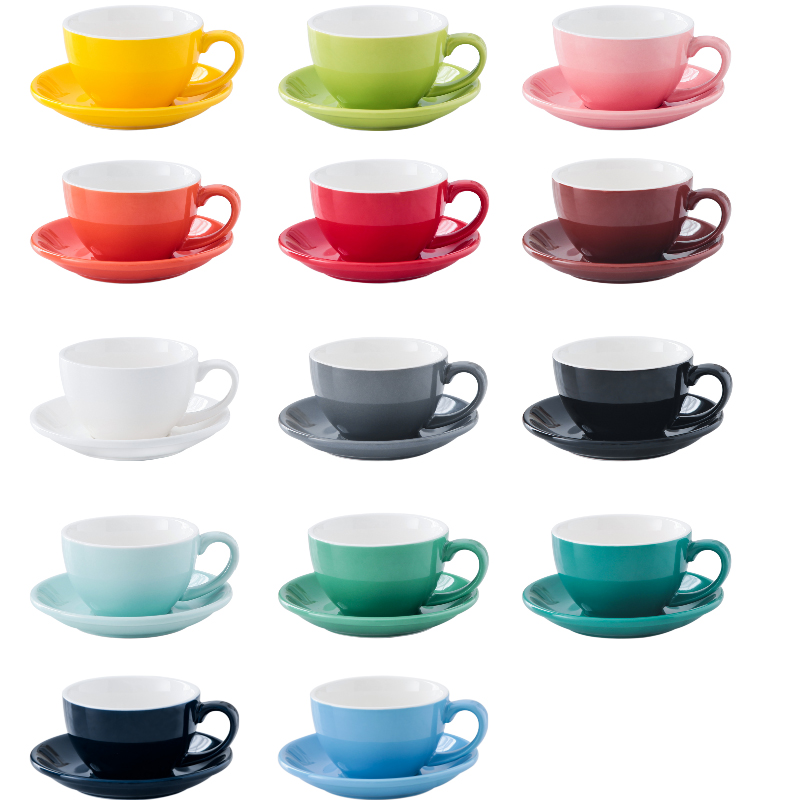 Fine bone China manufactures, 60Z solid color cappuccino ceramic coffee cup and sauce