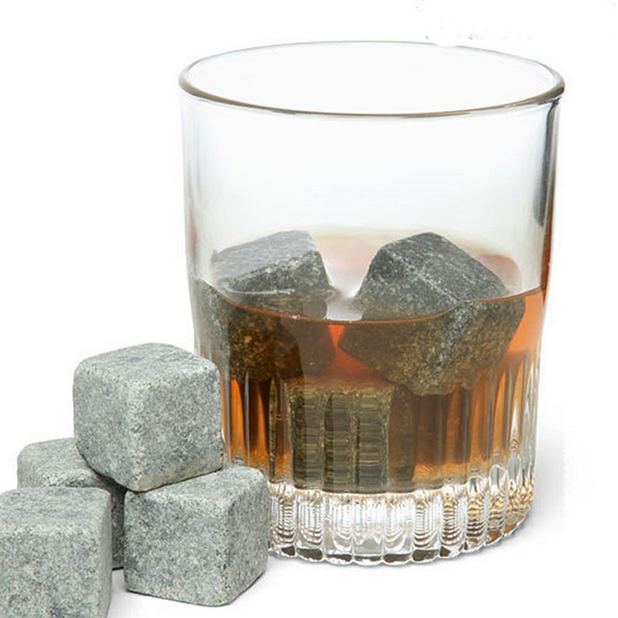 8pcs Whisky Rocks Whisky Stones Beer Wine Stones Whisky Ice Stones Bar Accessories with a Pouch