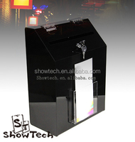 Acrylic Donation Box With Lock/ Large Acrylic Ballot Box/Suggestion Box With Brochure Holder for Christma Show