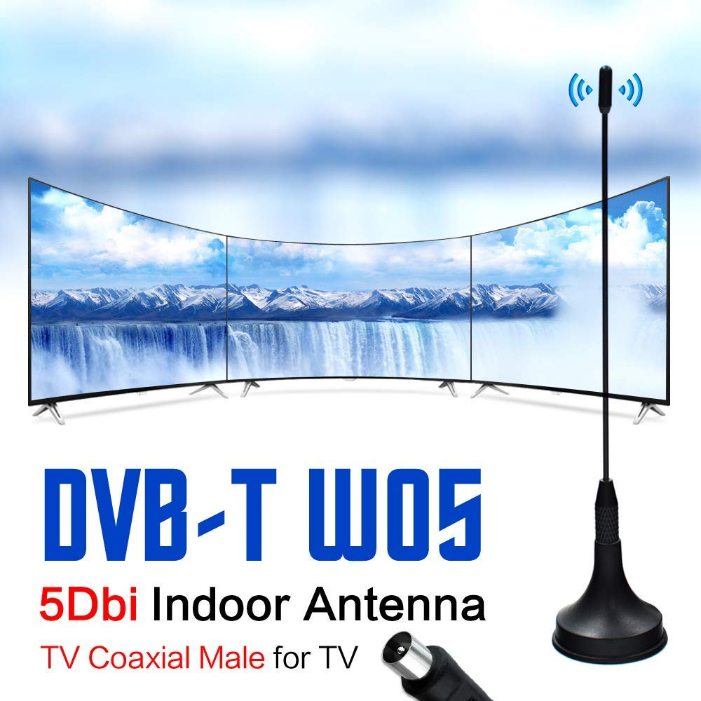 Promama Digital DVB-T TV HDTV Antenna Kit - High-Definition with HDTV Amplifier Signal Booster Indoor - Amplified Antennas