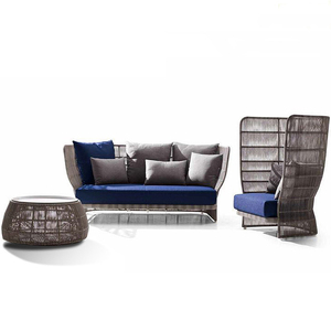 low price outdoor furniture rattan garden sofa set