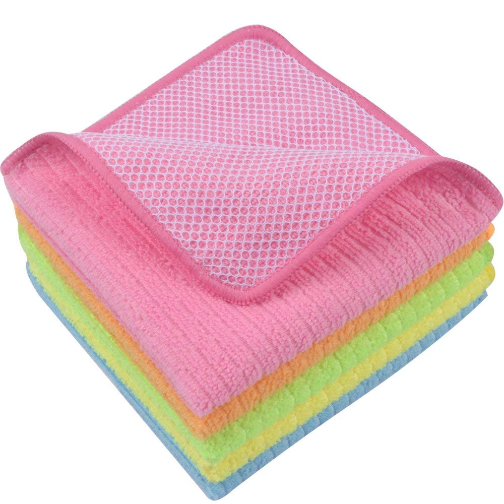 62a2d6f072927 Get Quotations · Sinland Microfiber Dish Cloth Kitchen Cloths Cleaning  Cloths With Poly Scour Side 12