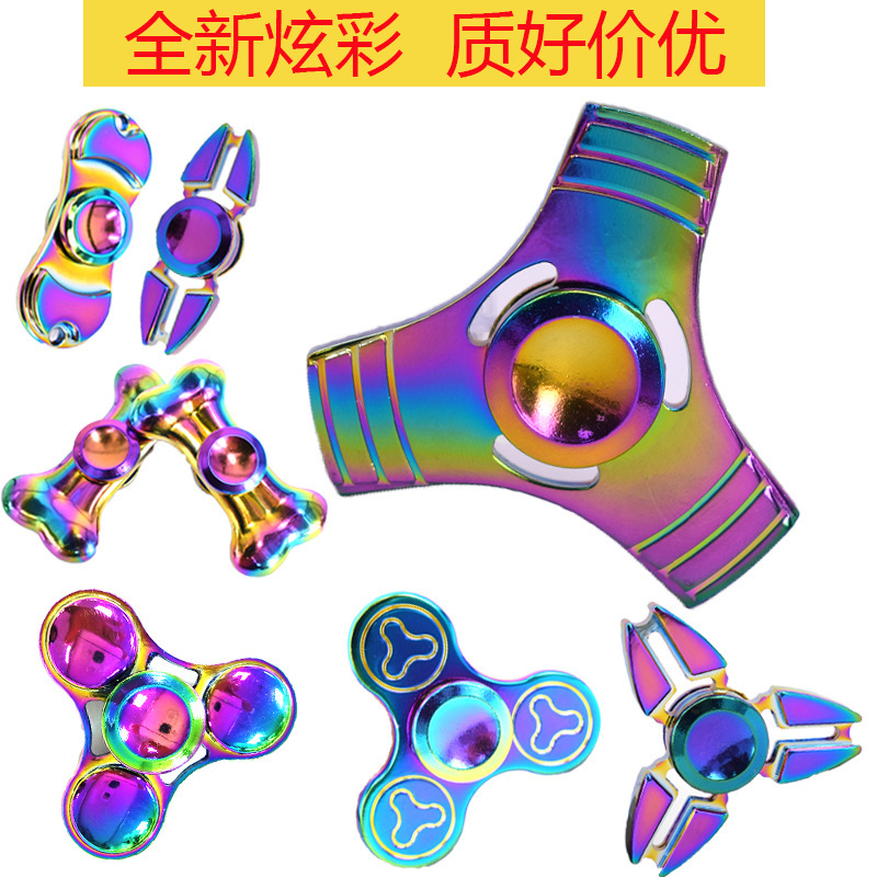 2017 free sample 608 ceramic bearing aluminium alloy anti fidget fidget spinner toy stress reducer