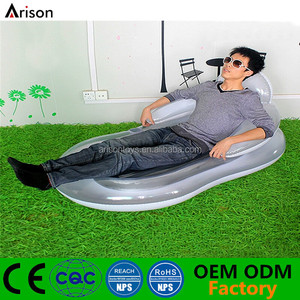 High quality oval inflatable beach mattress foldable water float lounge inflatable chair