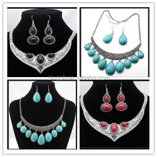 Nepal and Indian color stone collar necklace set fashion jewelry