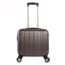 17 Inches Cabin Suitcase with Laptop compartment ABS Trolley Travel Case with Wheels