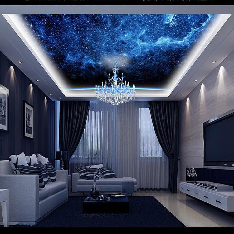 look in den himmel decke design hotel sky gl nzenden glitter 3d wandbild tapete f r ktv. Black Bedroom Furniture Sets. Home Design Ideas