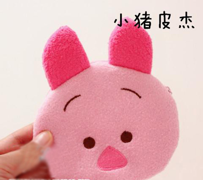 48 шт./лот Tsum симпатичные портмоне детей детские сумка мультфильм медведь / утка / слон / свинья хранится ключ мешок-рождественский подарки