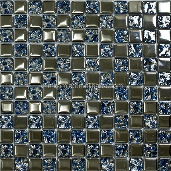 Mattonelle di mosaico di vetro per la parete della cucina ...