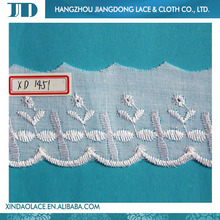 Fashionable high quality net embroidery Batten Lace