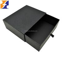 custom spot UV logo cardboard drawer box with pull tab