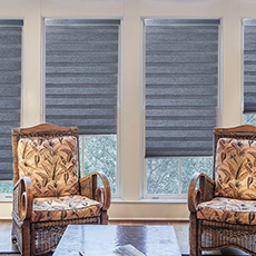 Double layer combi blinds day night shades blackout cordless zebra blinds