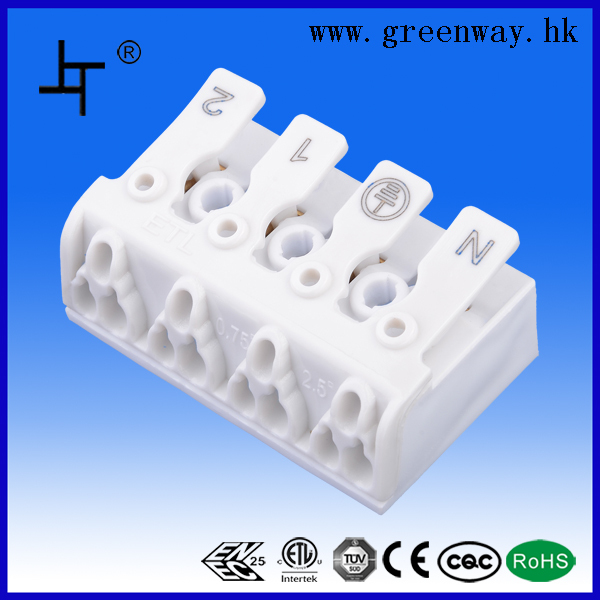 wholesale from china white 4pin telephone wire connectors